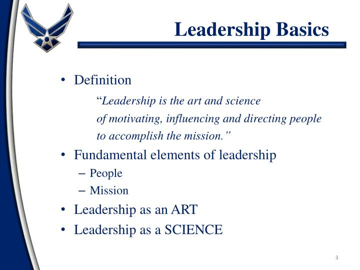 Leadership basics