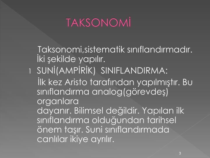 TAKSONOMİ