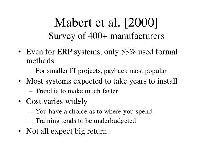 Mabert et al. [2000]