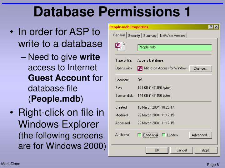 Database Permissions 1