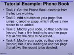 tutorial example phone book