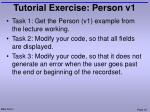 tutorial exercise person v1