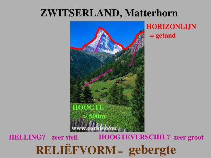 ZWITSERLAND, Matterhorn