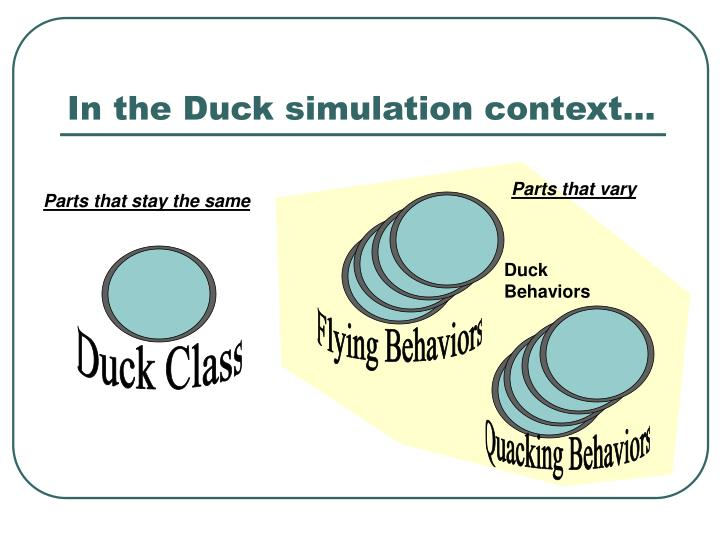 In the Duck simulation context…