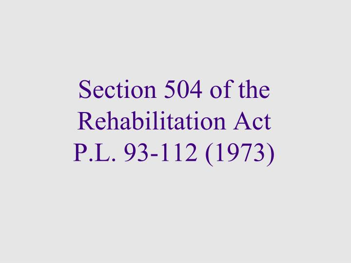 Section 504 of the