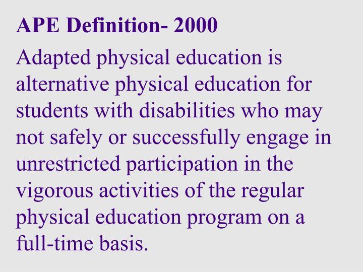 APE Definition- 2000