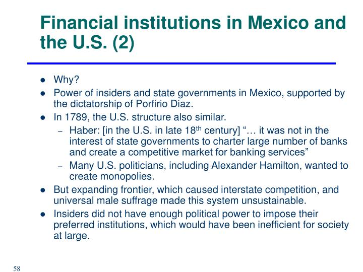 Financial institutions in Mexico and the U.S. (2)