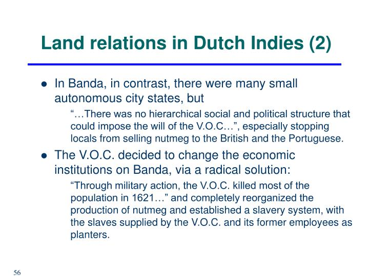 Land relations in Dutch Indies (2)