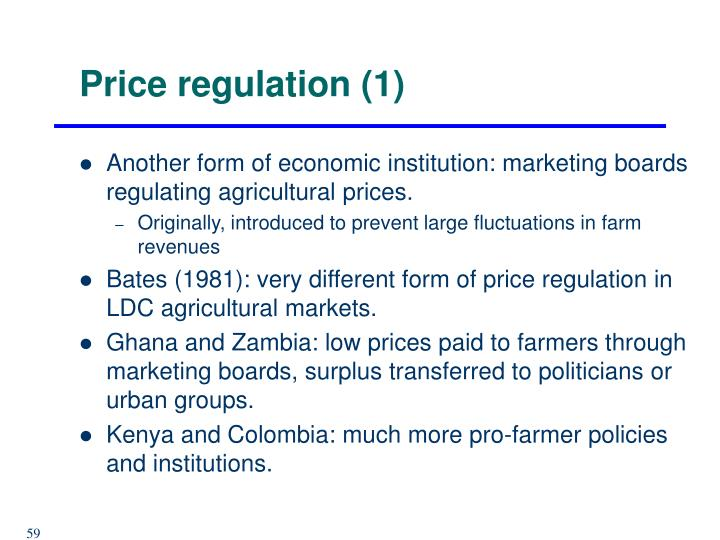 Price regulation (1)