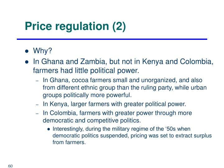 Price regulation (2)