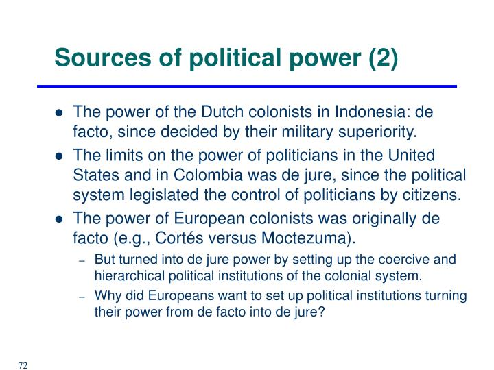 Sources of political power (2)