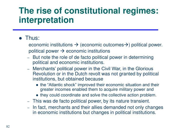 The rise of constitutional regimes: interpretation