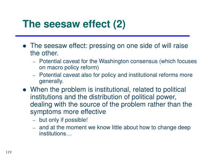 The seesaw effect (2)