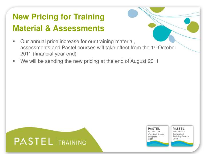 New Pricing for Training