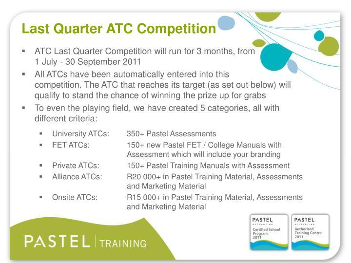 Last Quarter ATC