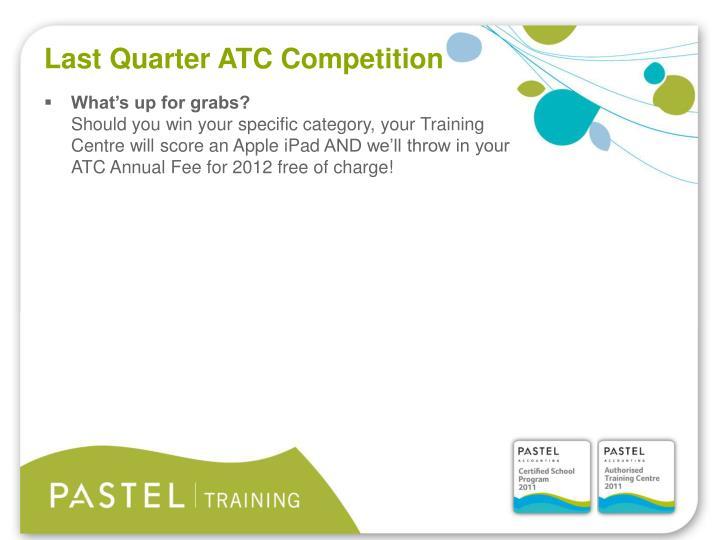Last Quarter ATC Competition