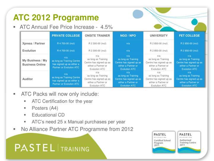 ATC 2012 Programme