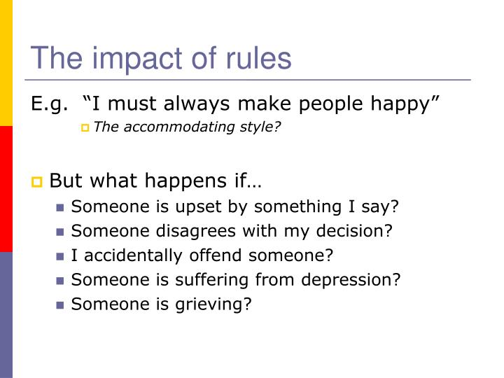 The impact of rules