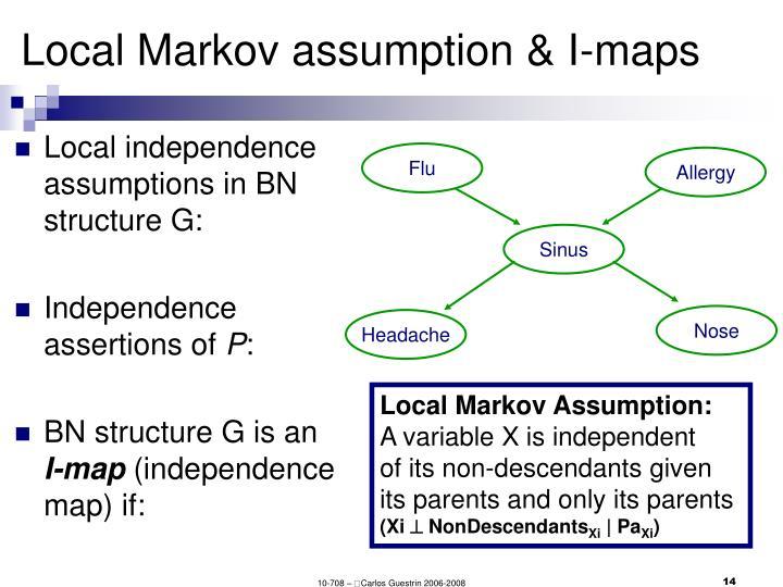 Local Markov assumption & I-maps