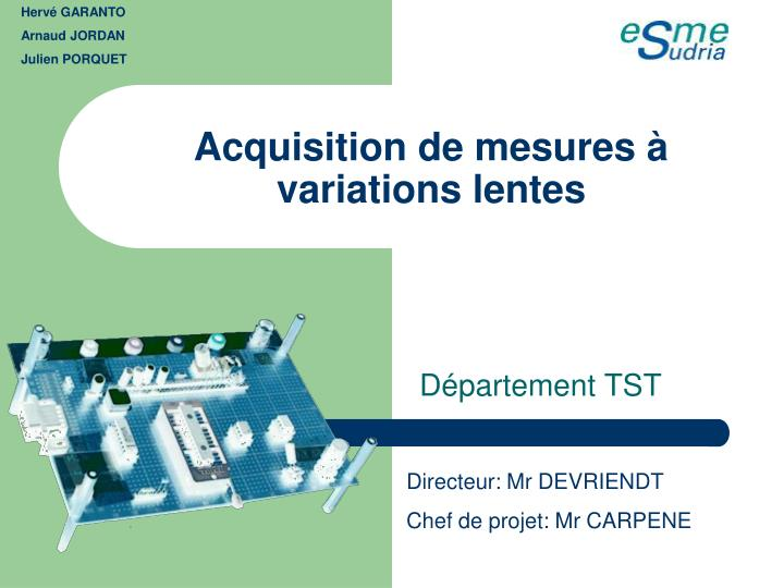 acquisition de mesures variations lentes