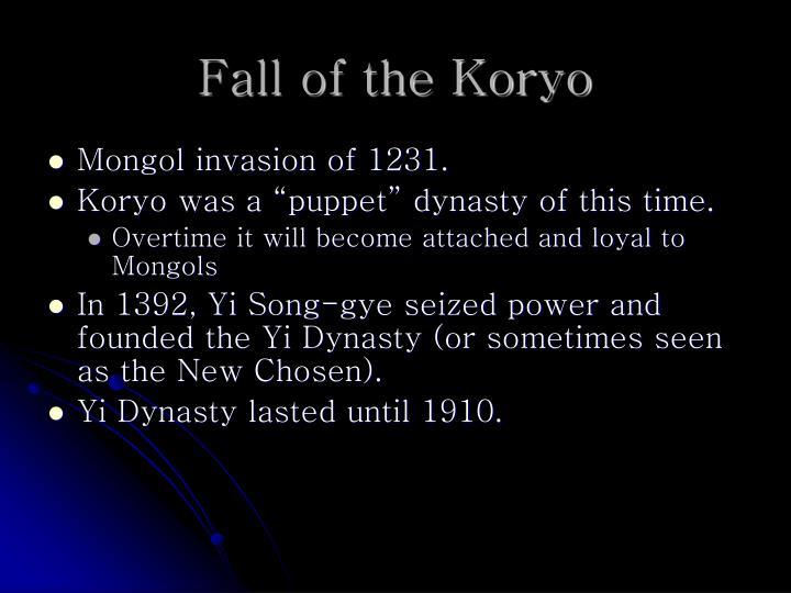Fall of the Koryo