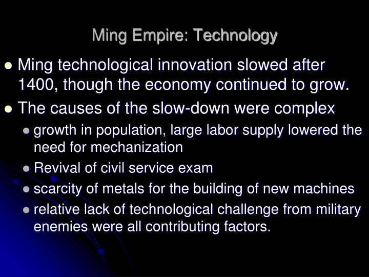 Ming Empire: Technology
