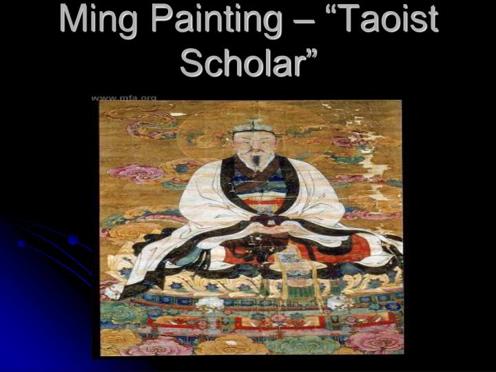 "Ming Painting – ""Taoist Scholar"""