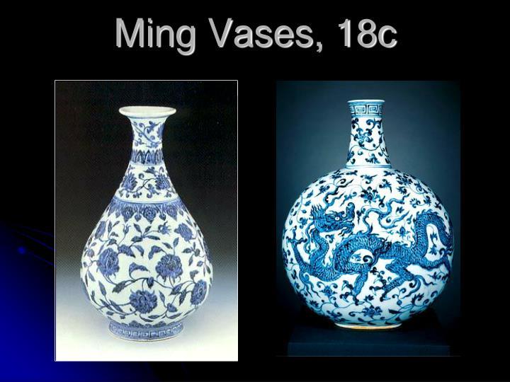 Ming Vases, 18c