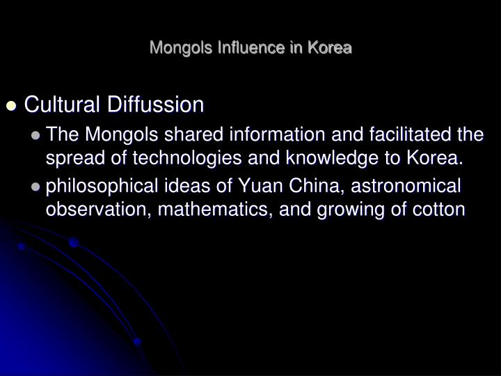 Mongols Influence in Korea