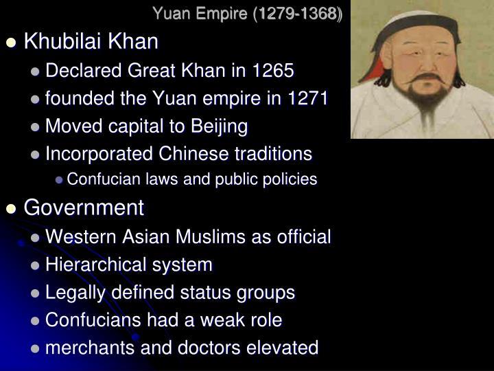 Yuan Empire (1279-1368)