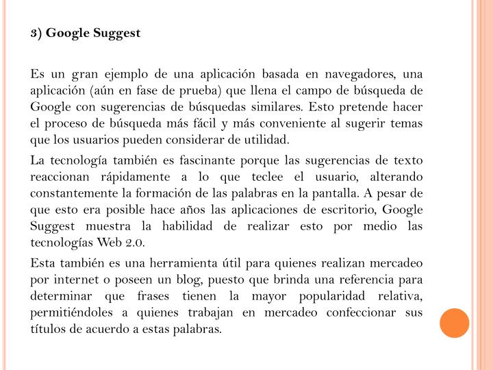 3) Google