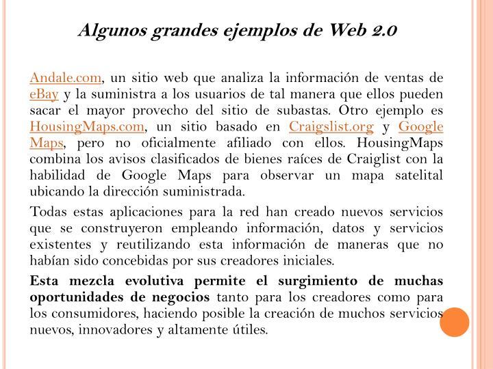 Algunos grandes ejemplos de Web 2.0