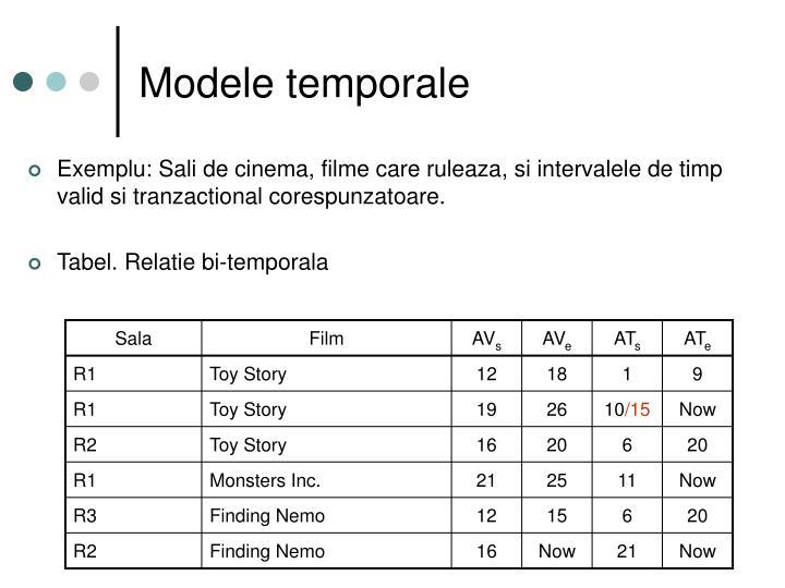 Modele temporale