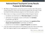 national board touchpoint survey results purpose methodology