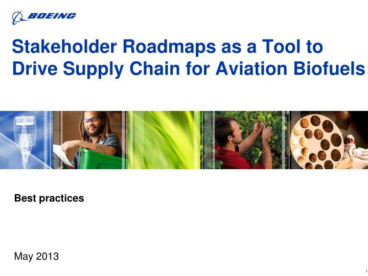Stakeholder Roadmaps as a Tool to Drive Supply Chain for Aviation