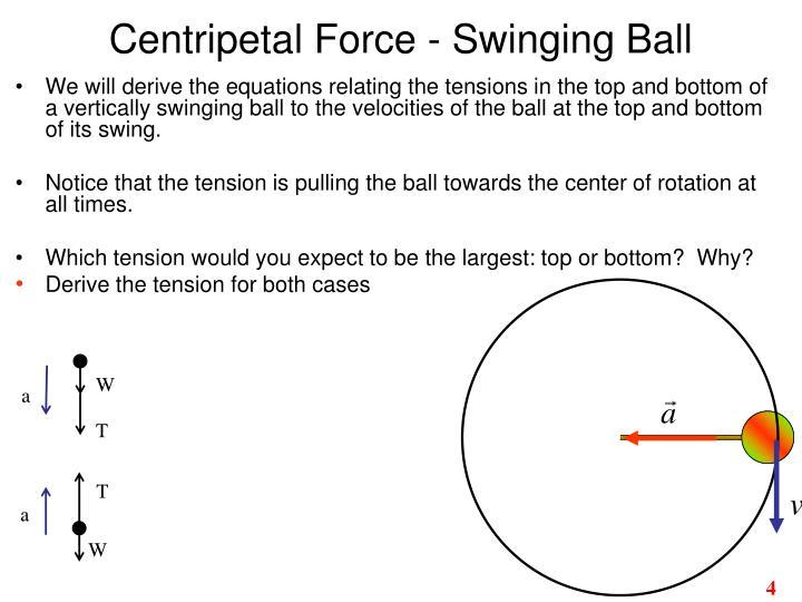 Centripetal Force - Swinging Ball