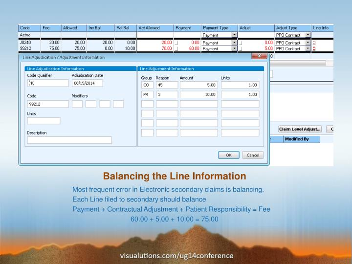 Balancing the Line Information