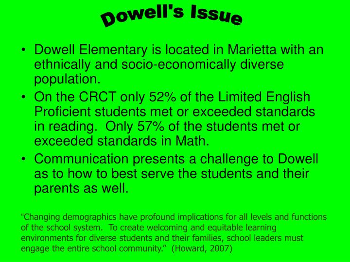 Dowell's Issue