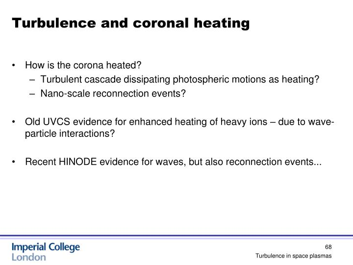 Turbulence and coronal heating