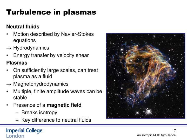 Turbulence in plasmas