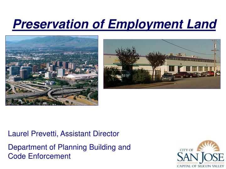 Preservation of employment land