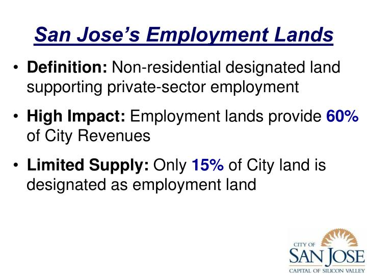 San Jose's Employment Lands