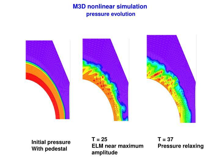 M3D nonlinear simulation