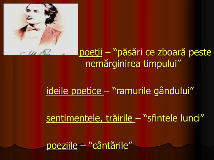poeţii