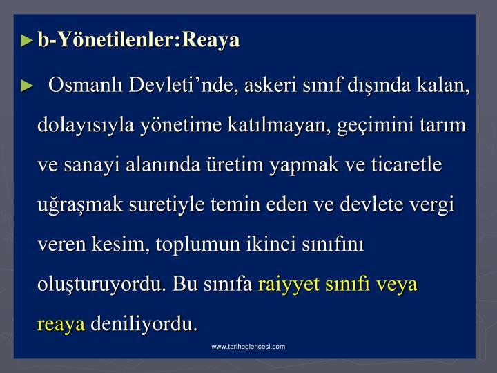 b-Ynetilenler:Reaya