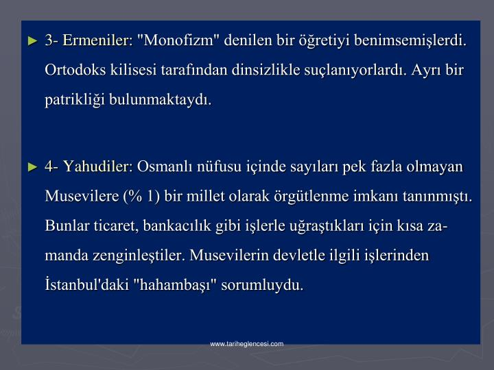3- Ermeniler: