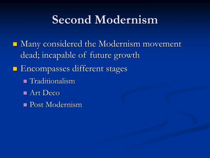 Second Modernism