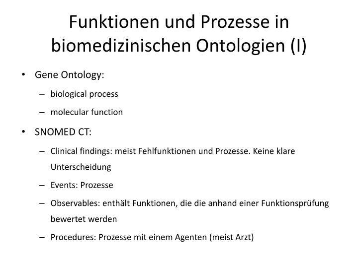 Funktionen und Prozesse in biomedizinischen