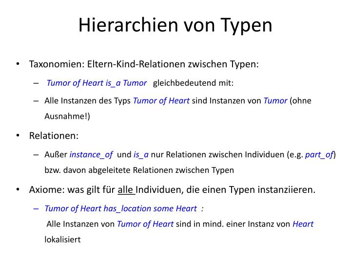 Hierarchien von Typen