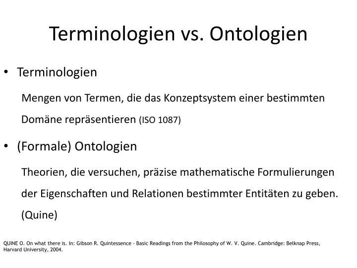 Terminologien